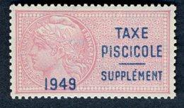 Timbre Fiscal (fiscaux) De Permis De Pêche - Taxe Piscicole N° 10 (trace De Charnière Légère) Neuf - 1949 - Fiscaux