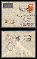 POSTA AEREA  - 1935 (22 Dicembre) - Mogadiscio Tripoli (3505) - 10 Volati - Francobolli