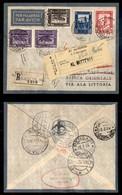 POSTA AEREA  - 1935 (22 Dicembre) - Mogadiscio Bengasi (3506) - Raccomandato - Raro - 10 Volati - Francobolli