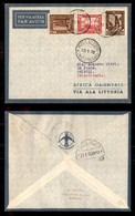 POSTA AEREA  - 1936 (10 Gennaio) - Rocca Littorio Tripoli (3544) - 10 Volati - Francobolli