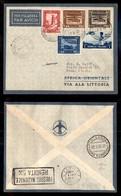 POSTA AEREA  - 1936 (18 Maggio) - Addis Abeba Roma (3561) - 4 Volati - Francobolli