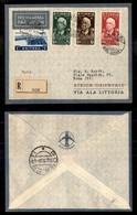POSTA AEREA  - 1936 (21 Giugno) - Dire Daua Roma (Prati 30.6) - Mista Etiopia Eritrea - Raccomandato -unico Di 5 Volati - Francobolli