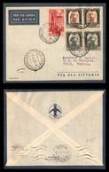 POSTA AEREA  - 1937 (6 Aprile) - Tripoli Tunisi (3638) - 80 Volati - Francobolli