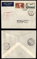 POSTA AEREA  - 1937 (7 Aprile) - Parigi Torino (3646) - 47 Volati - Francobolli