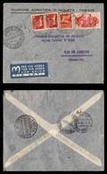 POSTA AEREA  - 1941 (2 Settembre) - Trieste Rio De Janeiro- Via LATI - Francobolli