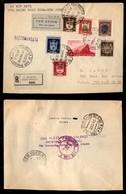 POSTA AEREA  - 1946 (28 Marzo) - S.Marino New York - Aerogramma Raccomandato - Francobolli