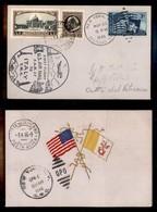 POSTA AEREA  - 1946 (31 Marzo/4 Aprile) - New York Vaticano + Roma Washington- Cartolina Doppia Con I Voli Di Andata E R - Francobolli