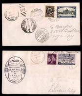 POSTA AEREA  - 1946 (31 Marzo/4 Aprile) - New York Vaticano + Roma Washington - Aerogramma Con I Voli Di Andata E Ritorn - Francobolli