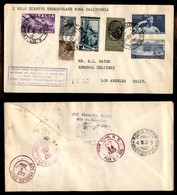 POSTA AEREA  - 1957 (4 Ottobre) - Volo Transpolare Roma Los Angeles - Francobolli