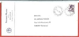BUSTA VG ITALIA - ORDINARIA Biochimica Milanese - 11 X 23 - ANN. 1963 COSENZA - PAOLA - PATERNO - 1961-70: Marcofilia