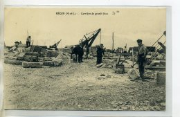 49 BECON Carrierre De Granit Bleu Ouvriers Au Travail Grues 1915   /DS-2016 - Unclassified