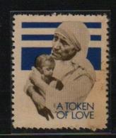 India  Mother Teresa  Nobel Laureate  Label  #  12102  Inde  Indien - Mother Teresa