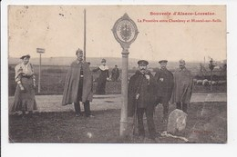 CPA 57 La Frontiere Entre Chambrey Et Moncel Sur Seille - Otros Municipios
