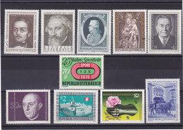 AUTRICHE 1974 Yvert 1291-1294 + 1297-1302 NEUF** MNH - 1945-.... 2ème République