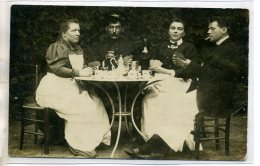 91 éctite LONGJUMEAU Domestiques Jouant Aux Cartes Jeu écrite 1910 Par R BELLEC 154 Grande Rue   /DS-2016 - Longjumeau