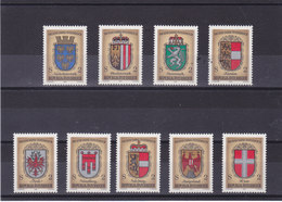 AUTRICHE 1976 ARMOIRIES Yvert 1351-1359 + BF 9 NEUF** MNH - 1945-.... 2ème République
