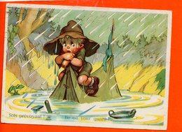 Scoutisme - Illustrateur - Sois Prévoyant ! Be On Your Guard ! (timbre Jamborree De La Paix - Année 1947) - Scoutismo