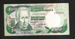 COLOMBIA - El Banco De La Republica - 200 Pesos Oro (1988) - Colombia