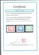 1947 Seizure Chiang Kai-Shek MNH Set Very Fine Yang NE96-8 Privately Barely Offered Anymore &  CERTIFICATE (NE-30) - North-Eastern 1946-48
