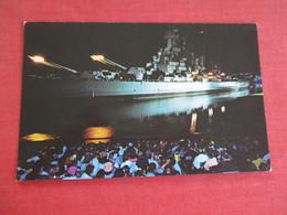 Iowa Jima Bombardment  Recreates Firing Of Ships Big Guns --- USS North Carolina Wilmington NC  Ref 3059 - Warships