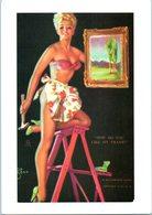 Femme - PIn-Up - Illustrateur Zoé MOzert  - A Mutoscope Card - Art Et Collections Affiche - Demi Nue - Pin-Ups