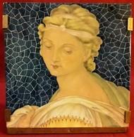 Italy 1923 - Ceramics Of Bolzonetti -Fabriano A Unique Example Depicts The Painting Testa Di S. Barbara - Ceramics & Pottery