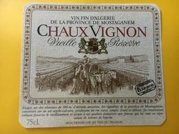 8811 - Algérie ChauxVignon Mostaganem - Etiquettes
