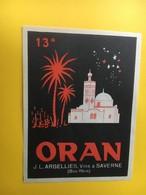8815 - Algérie Oran - Etiquettes