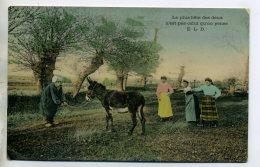 ANES Le Paysan Et Son ANE  Fermieres Moqueuses 1906 Timb   /D09-2016 - Donkeys