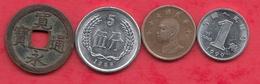 Chine -Japon 4 Pièces Dans L 'état (Japon 1 Er Pièce ---1 Kanei Année 1741) Lot N °13 - Monnaies