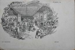CPA. - PARIS (15e) Les Sous Sol De La Grande Roue Animation Surprenante En 1900 - TBE - Arrondissement: 15