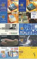 10 Télécartes Années 1994/1995 Différentes SILLAGE MAGIS CALL HOME GYM LOUVRE / NEFERTITI SCHWEPPES Etc - Télécartes