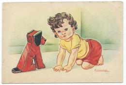 CPSM DESSIN ILLUSTRATION DE SLUIJS, ENFANT ET CHIEN - Illustrateurs & Photographes
