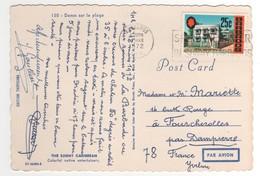 Beau Timbre , Stamp  Sur CP , Carte , Postcard Du 16 MAR 1972 - Barbades (1966-...)