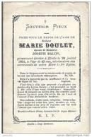 ETALLE ..--  Mme Marie DOULET , épouse De Mr Joseph BALON . Née En 1851 , Décédée En 1893 . - Etalle