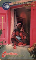 Virgin Islands - GPT, MV: BVI-3A, 3CBVA, Woman And Child (Old Logo), 25.500ex, 1991, Used As Scan - Virgin Islands