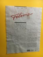 8839 Chili Cabernet Sauvignon 1989 Felicia  Talca - Etiquettes