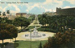 CUBA - Indian Park HAVANA -  1912 Good Stamp & Postmark - Cuba
