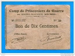P.D.   De Roche - Maurice     2 Bons  5  +  10 Cents  1914/18 - Notgeld