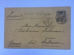 FRANCE - 1891 Postcard Lyon Les Terreaux To Felsenau Bern Switzerland - 1876-1898 Sage (Tipo II)