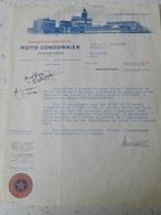 Brasserie Motte-Cordonnier - Armentières - Document Notarial - 1956 - France