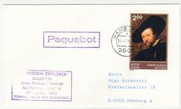 "Ship Letter Paquebot ""Indian Explorer"" Calcutta Travelled 1979 B180901 - Maritime"