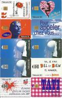 10 Télécartes Année 1995 Différentes BANQUE DIRECTE SKIP TATI UGC PLEUMEUR BODOU BUITONI Etc - Télécartes