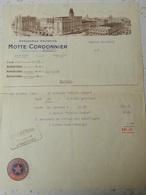 Brasserie Motte-Cordonnier - Armentières - Facture - 1936 - Cercle Saint-Louis Armentières - France