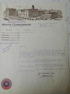 Brasserie Motte-Cordonnier - Armentières - Acte Notarial - 1938 - Radinghem (Nord) - France