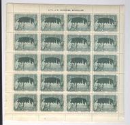 Exposition Internationale 1897 Bruxelles 4 Planches De 20 Timbres Vignettes Lith. Goossens Erinnophilie Sluitzegels - Stamps