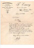 COURRIER F. EMERY NOIX ET CERNEAUX à GANNAT ALLIER 1922 - France