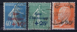 France: Yv 246 - 248 Obl./Gestempelt/used  Caisse Amortissement - France