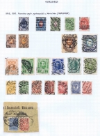 Russian Stamps Cancelled In Poland With Warschau And Lodz - 1857-1916 Imperium
