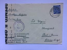 Germany - Allied Occupation - 1947 Censor Cover Rodenkirchen To Biel Switzerland - Zone AAS